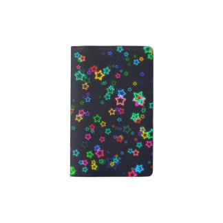 Colorful Pop Neon Star Pocket Moleskine Notebook