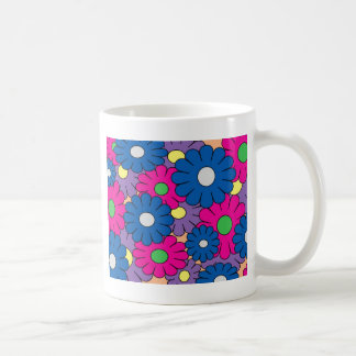 Colorful popart flowers pattern mug