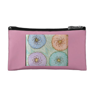 Colorful poppies cosmetic bag