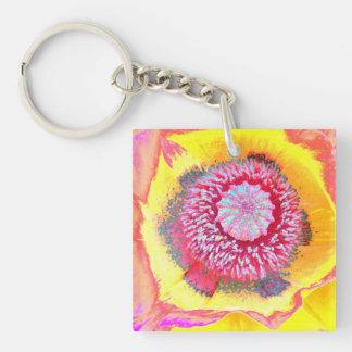 Colorful Poppy Key Ring