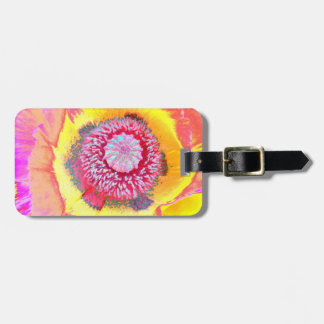 Colorful Poppy Luggage Tag