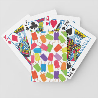 Colorful Popsicles! Bicycle Playing Cards