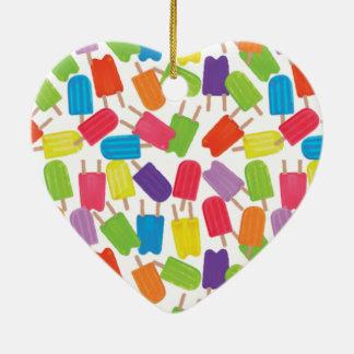 Colorful Popsicles! Ceramic Heart Decoration