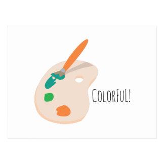 Colorful! Postcard