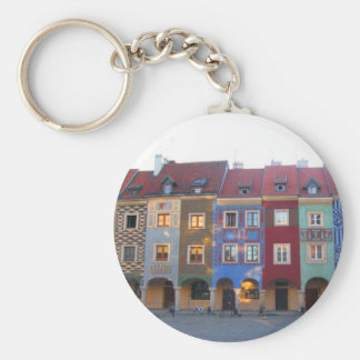 Colorful Poznan little medieval houses Key Ring