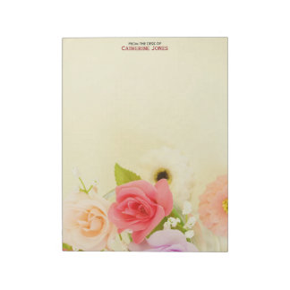 Colorful Pretty Flowers | Personalized Floral Notepad