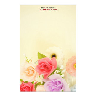 Colorful Pretty Flowers | Personalized Floral Stationery