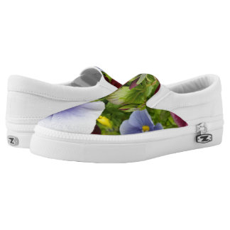 COLORFUL PRETTY PANSY SLIPONS SLIP ON SHOES