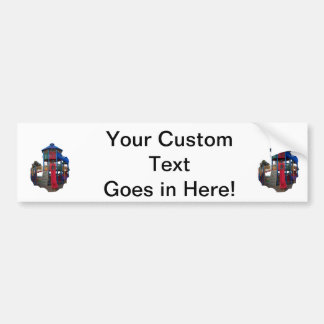 Colorful Primary Colored Slides Playground Equipme Bumper Sticker