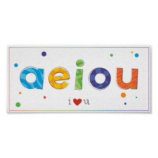 Colorful print for baby, toddlers or kids bedroom