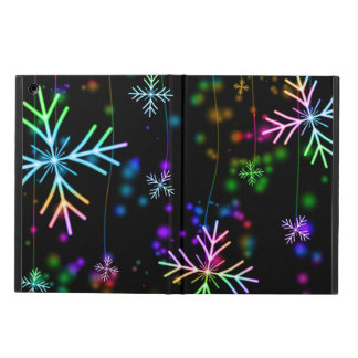 Colorful Prismatic Winter Snowflakes iPad Air Case