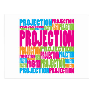 Colorful Projection Postcard