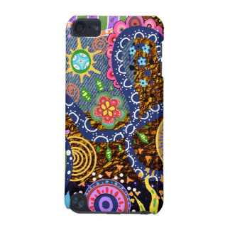 Colorful Psychedelic abstract  tribal art pattern iPod Touch 5G Cases