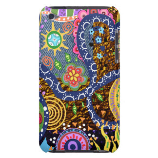 Colorful Psychedelic abstract  tribal art pattern iPod Touch Case-Mate Case