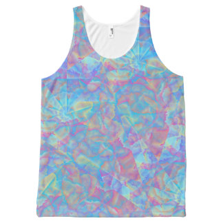 Colorful Psychedelic All-Over Print Tank Top