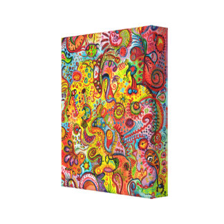 Colorful Psychedelic Art Stretched Canvas Prints