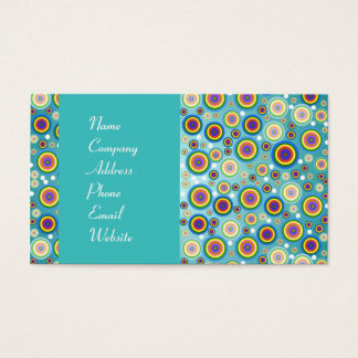 Colorful Psychedelic Circles Business Card