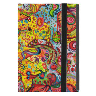 Colorful Psychedelic iPad Mini Case with Kickstand
