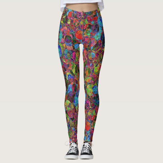 Colorful psychedelic pattern - leggings