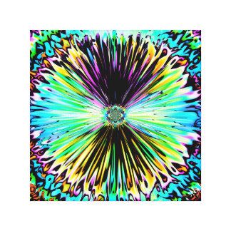Colorful psychedelic sketch of a flower 3 canvas print