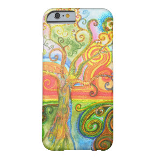 Colorful psychedelic swirly tree iPhone 6 case Barely There iPhone 6 Case