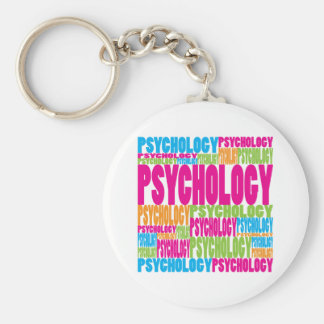 Colorful Psychology Basic Round Button Key Ring