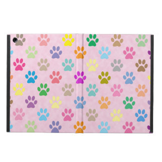 Colorful puppy paw prints iPad air cases