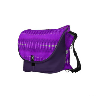 colorful purple abstract pattern messenger bag