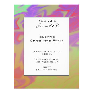 Colorful Purple Christmas 21.5 Cm X 28 Cm Flyer