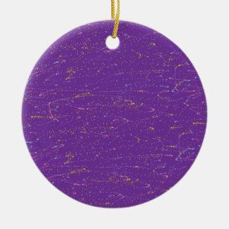 Colorful Purple Christmas Ornament