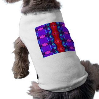 Colorful purple red abstract design sleeveless dog shirt