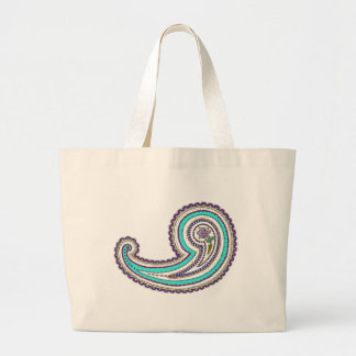 Colorful Purple Teal Floral Vintage Paisley White Bags