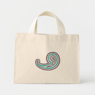 Colorful Purple Teal Vintage Paisley Small Bags