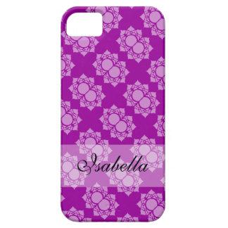 Colorful Purple White Lotus Pattern iPhone 5 Case
