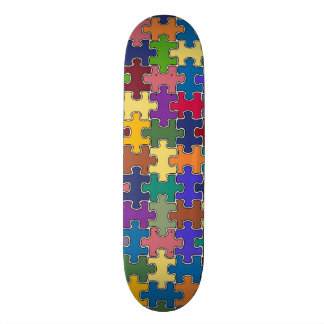 colorful puzzle game skateboard