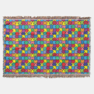 Colorful Puzzle Pattern Autism Awareness