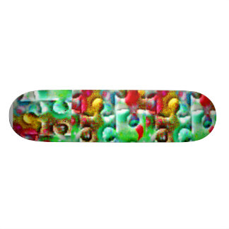 Colorful Puzzle Pieces Abstract Custom Skateboard