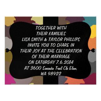 Colorful puzzle pieces custom invites