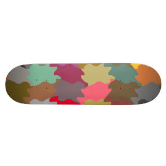 Colorful puzzle pieces skate board decks