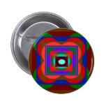 Colorful Pyramid Graphic Pinback Button