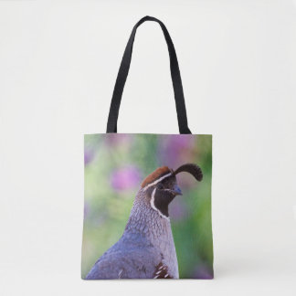 Colorful Quail Tote Bag