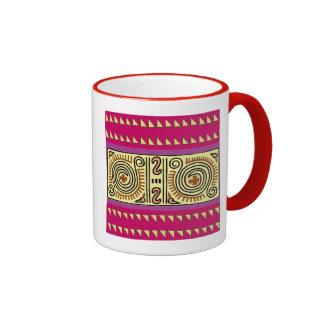 Colorful Quenacho Crimson Tribal Mug