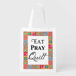 Colorful Quilt Blocks Border Art Eat Pray Quilt