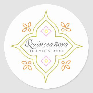 Colorful Quince Classic Round Sticker