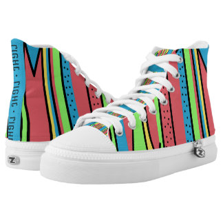 Colorful Quirky Beach Time Printed Shoes