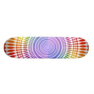 Colorful Radial Design: Skateboard