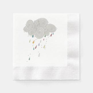 Colorful Rain Cloud Cocktail Paper Napkins