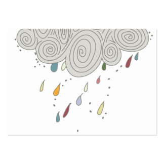 Colorful Rain Cloud Pack Of Chubby Business Cards