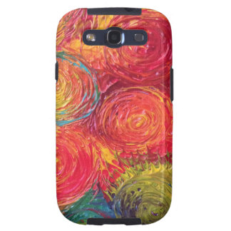 Colorful Rainbow Abstract Spirals Samsung Galaxy S3 Covers