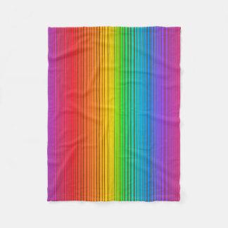 Colorful Rainbow Background Fleece Blanket